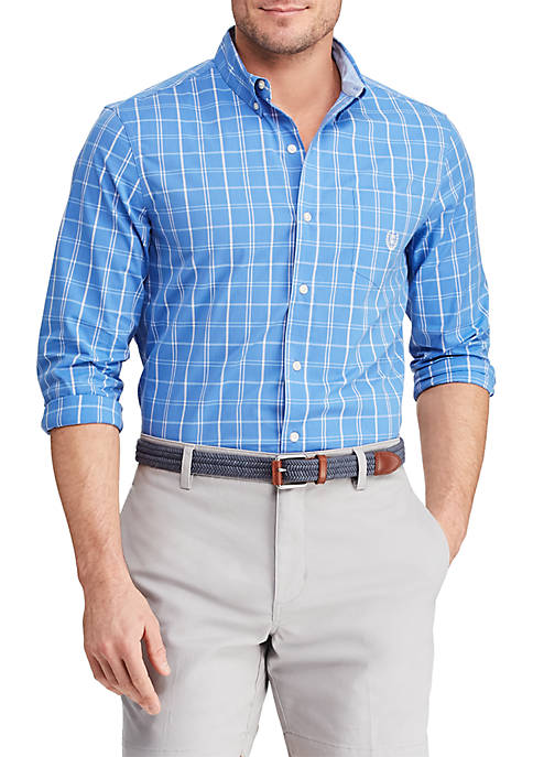 Big & Tall Long Sleeve Stretch Easy Care Button Down Shirt