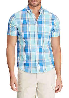 951576e6ea Chaps Big & Tall Easy Care Short Sleeve Button Down Shirt ...