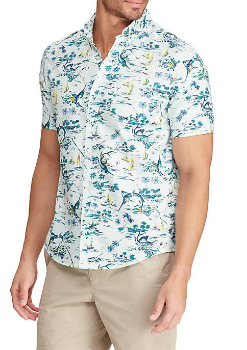 Big & Tall Printed Sport Shirt