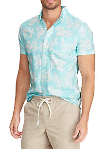 1afe09dec ... Chaps Big & Tall Short Sleeve Printed Sport Shirt