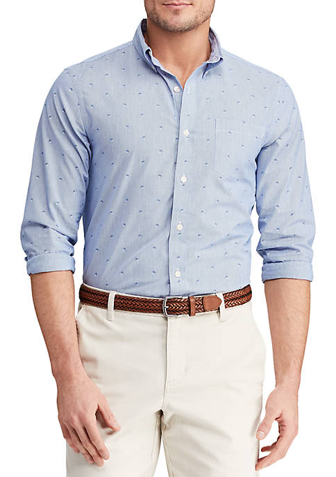 Big & Tall Long  Sleeve Easy Care Button Down Shirt
