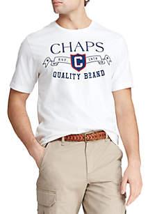 Chaps Big & Tall Short Sleeve Cotton Blend Graphic T-Shirt