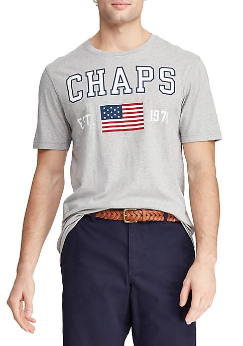 Chaps Big & Tall Short Sleeve Cotton Blend