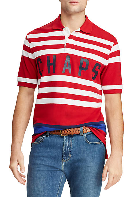 Chaps Big & Tall Short Sleeve Heritage Polo