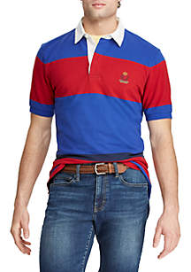 Chaps Big & Tall Heritage Collection Color-Blocked Rugby Shirt