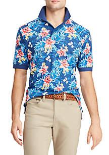 Chaps Big & Tall Short Sleeve Printed Polo Shirt
