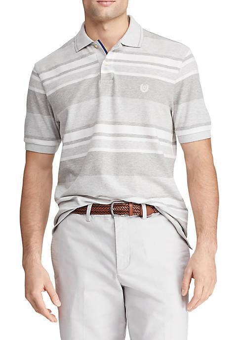 Big & Tall Stripe Birdseye Polo