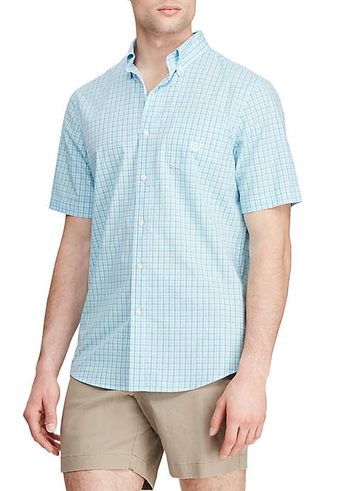 Big & Tall Short Sleeve Easy Care Poplin Shirt