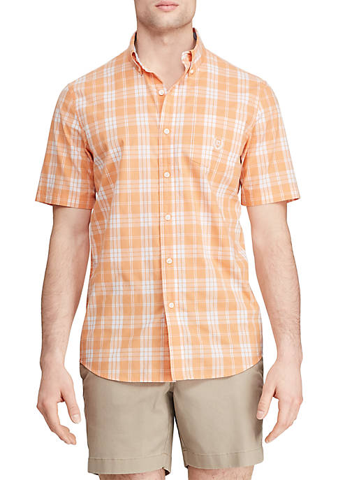 Big & Tall Easy Care Short Sleeve Button Down Shirt