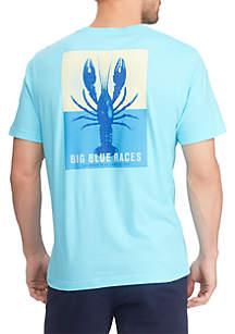 Chaps Big & Tall Short Sleeve Cotton Graphic T Shirt