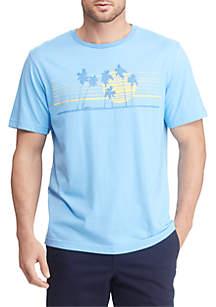 Chaps Big & Tall Palm Tree Graphic T Shirt