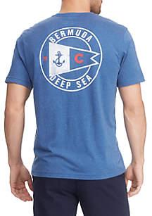 Chaps Big & Tall Short Sleeve Cotton Blend Graphic T Shirt