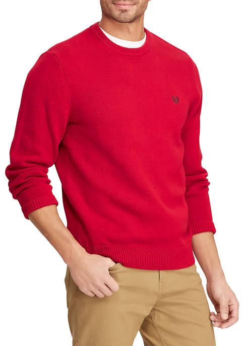 Chaps Big & Tall Cotton Crew Neck Sweater