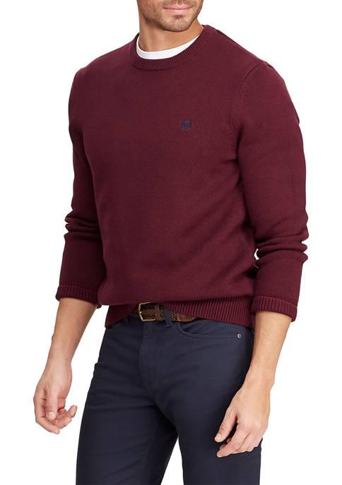 Big & Tall Cotton Crew Neck Sweater
