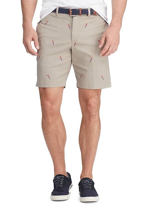 Big & Tall Flat Front Twill Printed Shorts