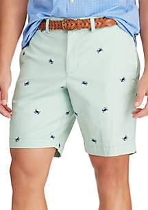 a017319125 ... Chaps Big & Tall Flat Front Printed Twill Shorts