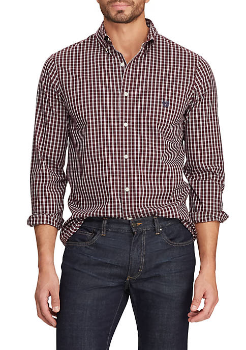 Big & Tall Easy Care Plaid Button Down Shirt
