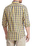 Big & Tall Long Sleeve Easy Care Multi Plaid Shirt