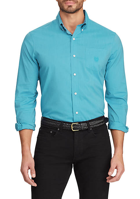 Chaps Big & Tall Easy Care Long Sleeve