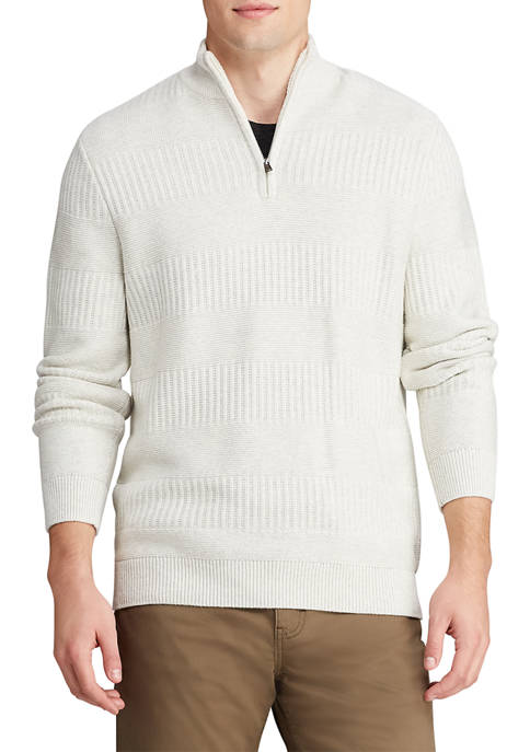 Chaps Big & Tall Cotton Blend Mock Neck