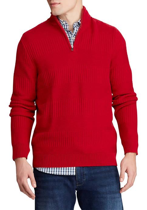 Big & Tall Cotton Blend Mockneck Sweater