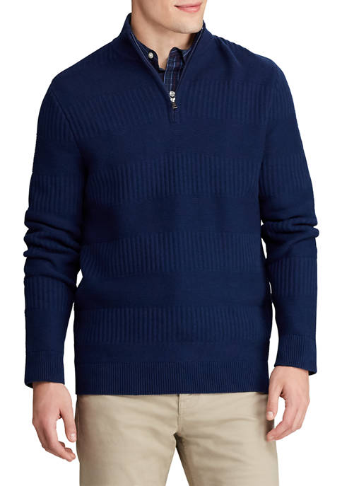 Big & Tall Cotton Blend Mock Neck Sweater