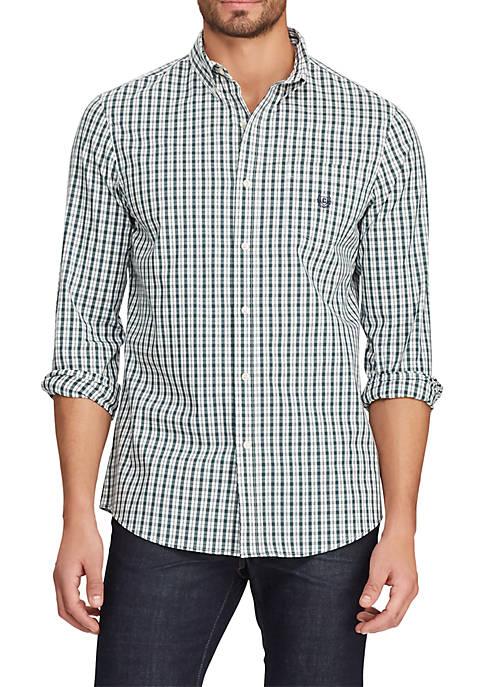 Big & Tall Long Sleeve Easy Care Plaid Shirt
