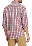 Big & Tall Long Sleeve Transitional Easy Care Plaid Shirt