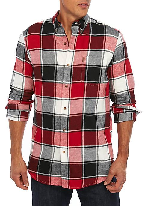 Big & Tall Easy Care Holiday Plaid Shirt