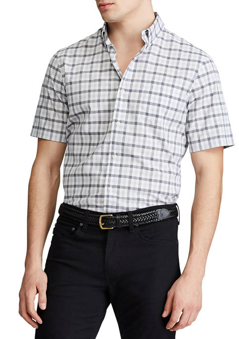 Big & Tall Performance Short Sleeve Easy Care Button Down Shirt