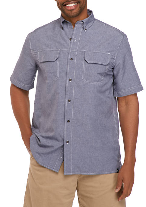 Chaps Big & Tall Short Sleeve Printed Outdoor