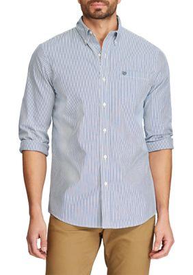 Chaps Mens Big Tall Easy Care Button Down Shirt