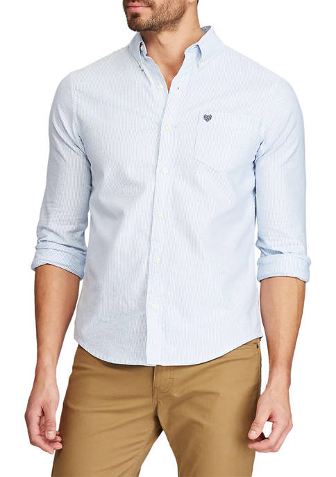 Chaps Big & Tall Stretch Oxford Button Down