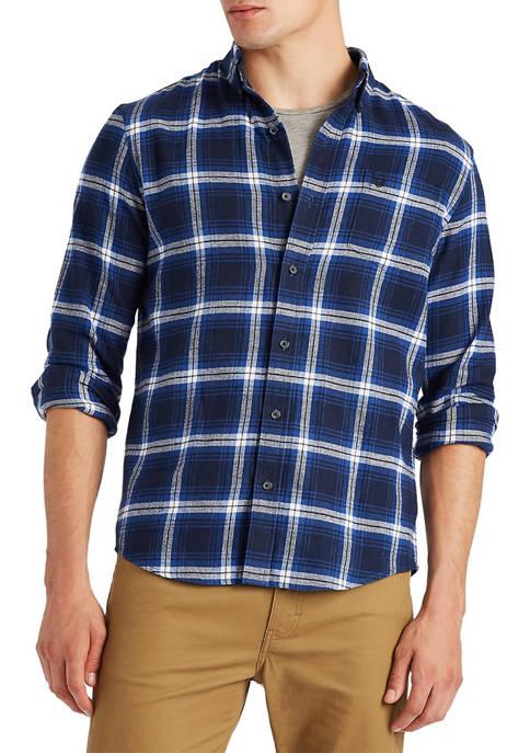 Chaps Big & Tall Plaid Flannel Button Down