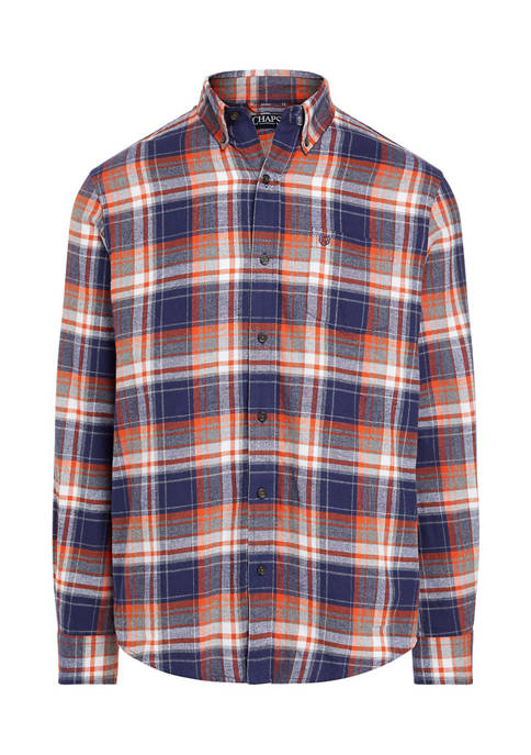 Chaps Big & Tall Long Sleeve Plaid Flannel