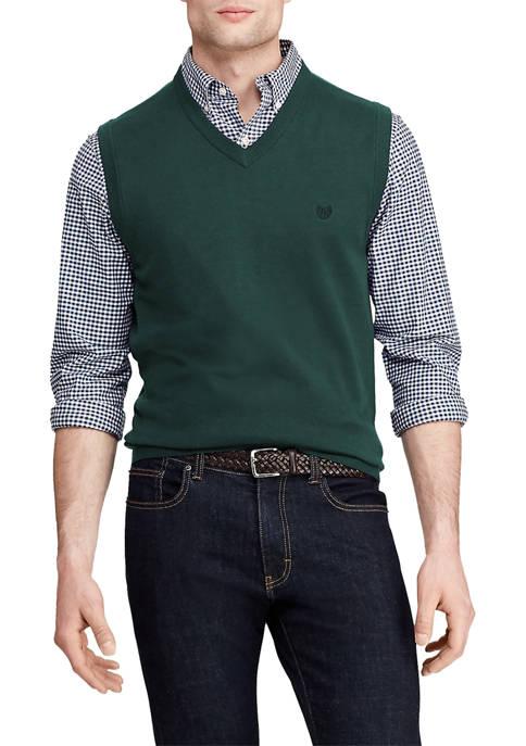 Chaps Solid V-Neck Sweater Vest