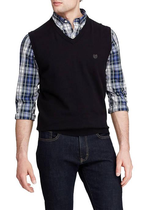 Chaps Big & Tall Cotton Sweater Vest