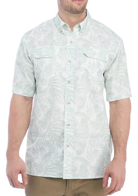 Chaps Big & Tall Short Sleeve Button Up