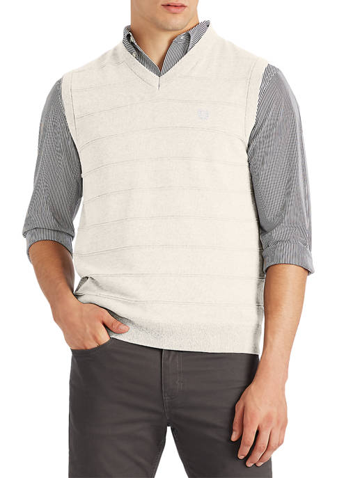 Chaps Big & Tall Cotton Sweater Vest
