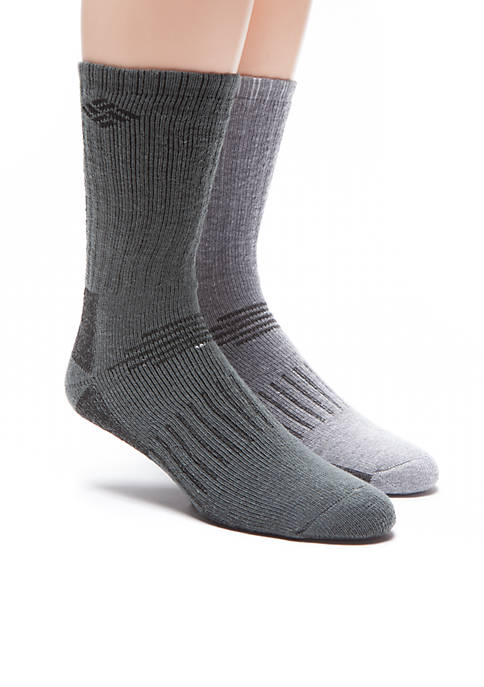Columbia 2-Pack Wool Blend Boot Crew Assorted Socks