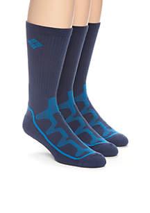 Mesh Tech Crew Socks - 3 Pack