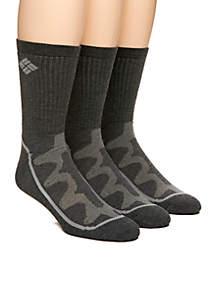 3-Pack Mesh Tech Crew Socks