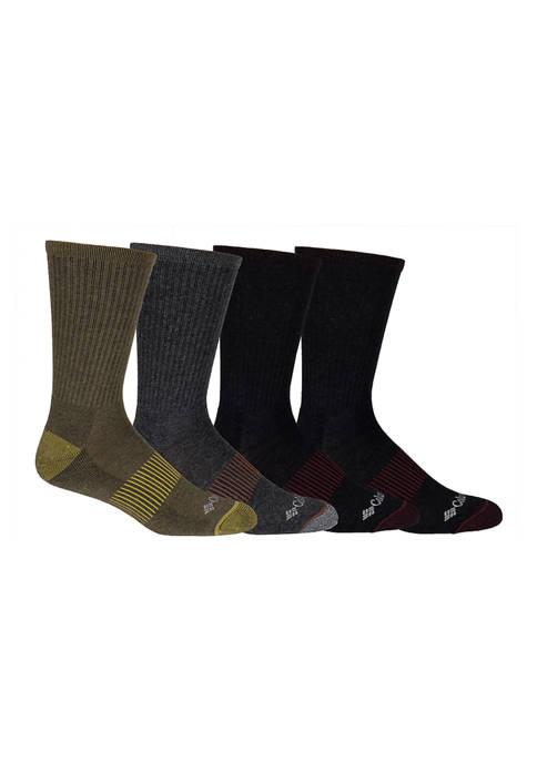 Heather Rib Knit Crew Socks - Set of 4