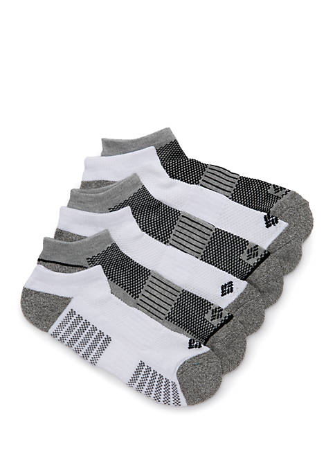 Athletic No-Show Socks - 6 Pack
