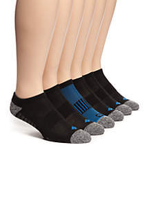 Athletic No Show Socks - 6 Pack