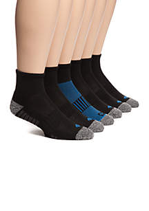Athletic Quarter Length Socks - 6 Pack