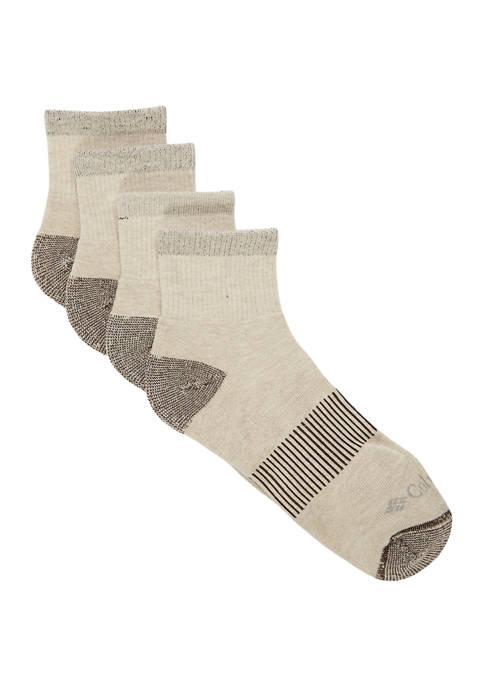 Heather Rib Knit Quarter Socks - Set of 4