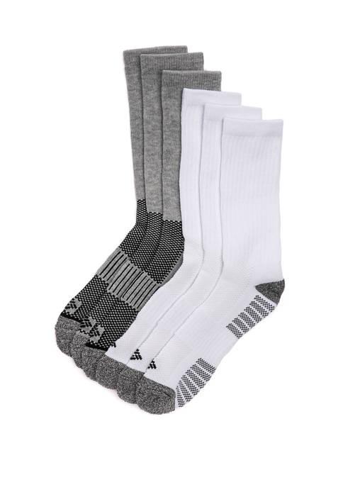 6 Pack Cushion Sport Crew Socks
