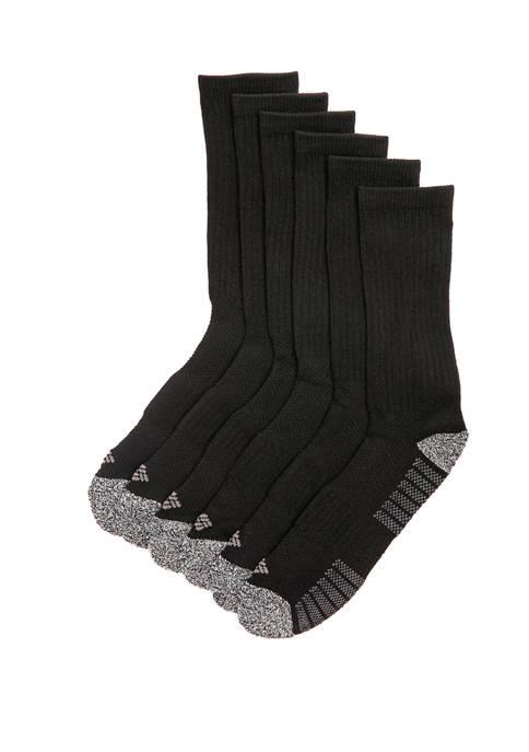 6 Pack Cushioned Sport Crew Socks
