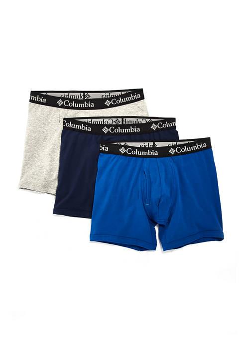 Columbia Cotton Boxer Briefs 3-Pack